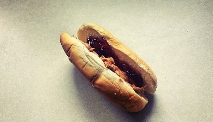 The PB&J Hot Dog Exists, and We're Not Sure if We're Down for That