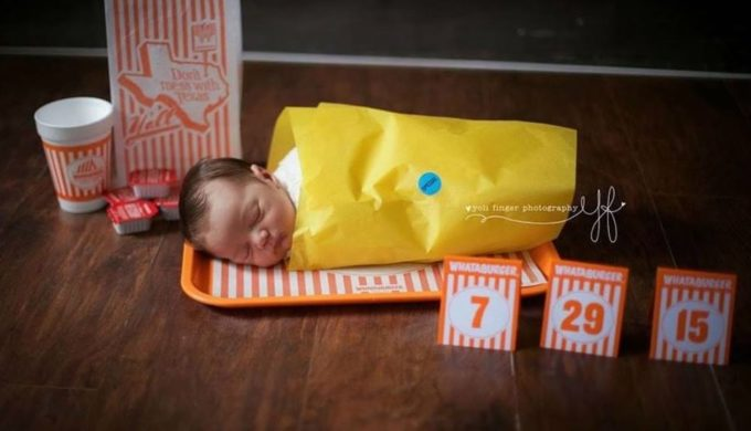 Whataphoto Takes the Cake (Or Is It Taquito?) For a Texas Birth Announcement!