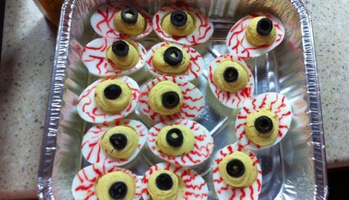 Bloodshot Deviled Eggs: A Must-Have Halloween Party Recipe