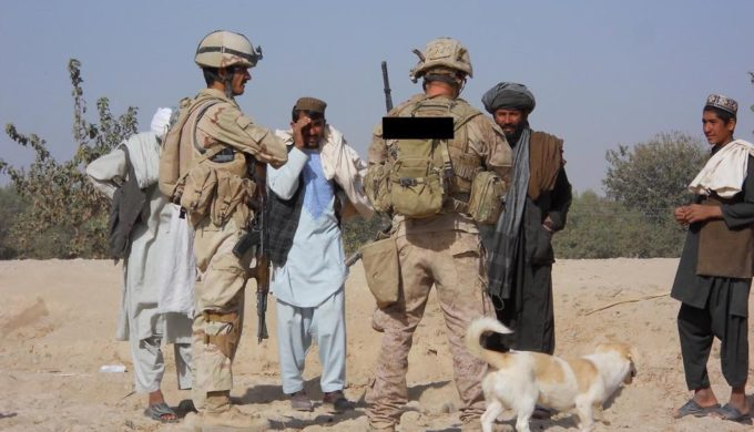 Marine Finds 4-Legged Friend in the Unlikeliest of Places