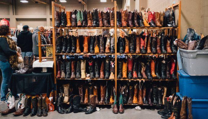 Cowboy Boots at City-Wide Garage Sale