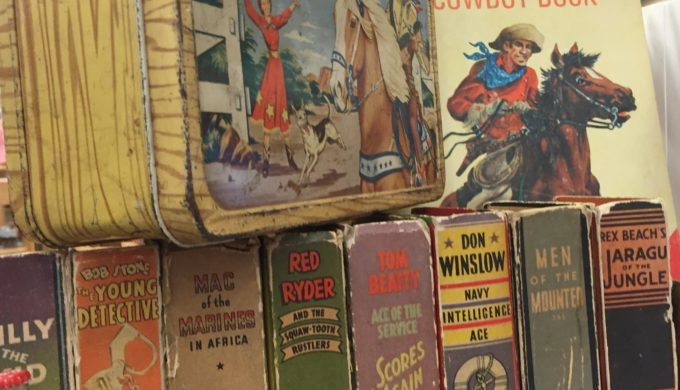 Vintage collectibles at City-Wide Garage Sale