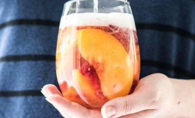 Sparkling White Peach Sangria Is All About Summer in Texas