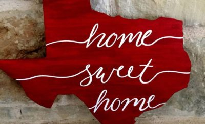 Home sweet home Texas outline