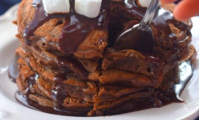 Making Hot Cocoa Pancakes for an Autumn Breakfast the Kids Will Love