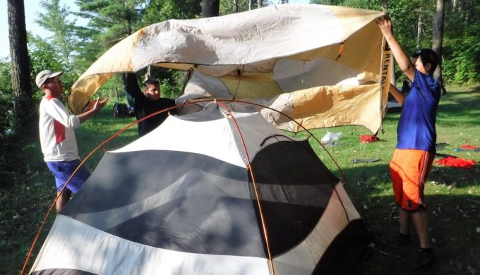 Setting Up a Tent