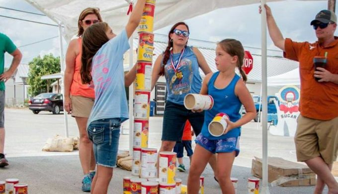 Oatmeal carton stacking at the Bertram Oatmeal Festival