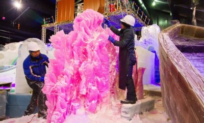 Renowned Artists Head to Galveston to Prepare Ice Land for Moody Gardens
