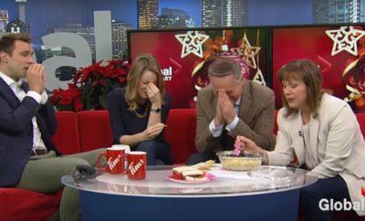 News Anchor's Holiday Dip Goes Horribly Wrong