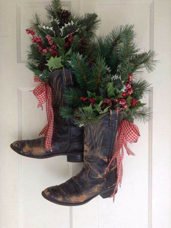 3 Unique Ways to Use Cowboy Boots in Christmas Décor