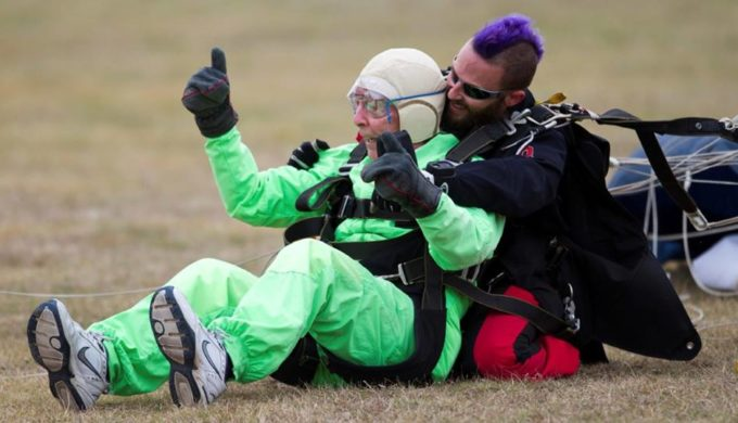 Texas Centenarian Takes Leap of Faith