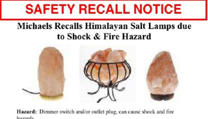 Consumer Product Safety Commission Issues Salt Lamp Recall