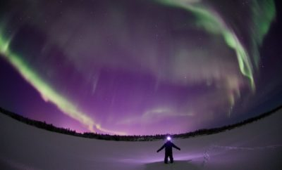It's No Waltz Across Texas But the Northern Lights Do in Fact Dance Across the Night Sky