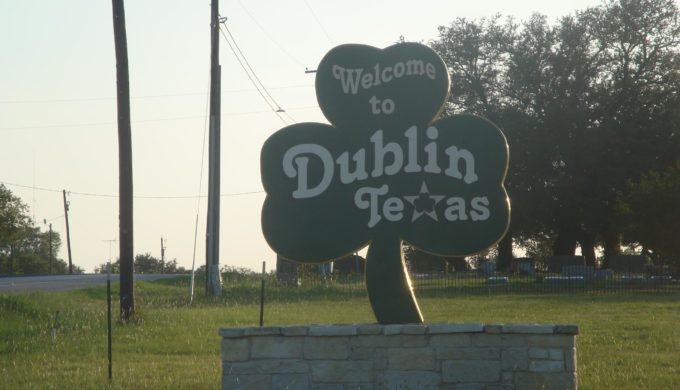 Dublin Texas welcome sign