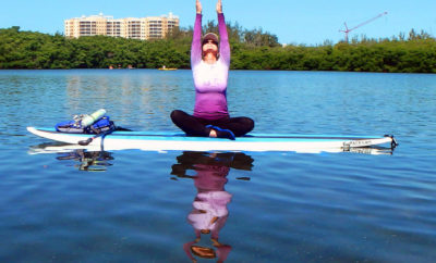 Paddleboard yoga Hill Country Yoga