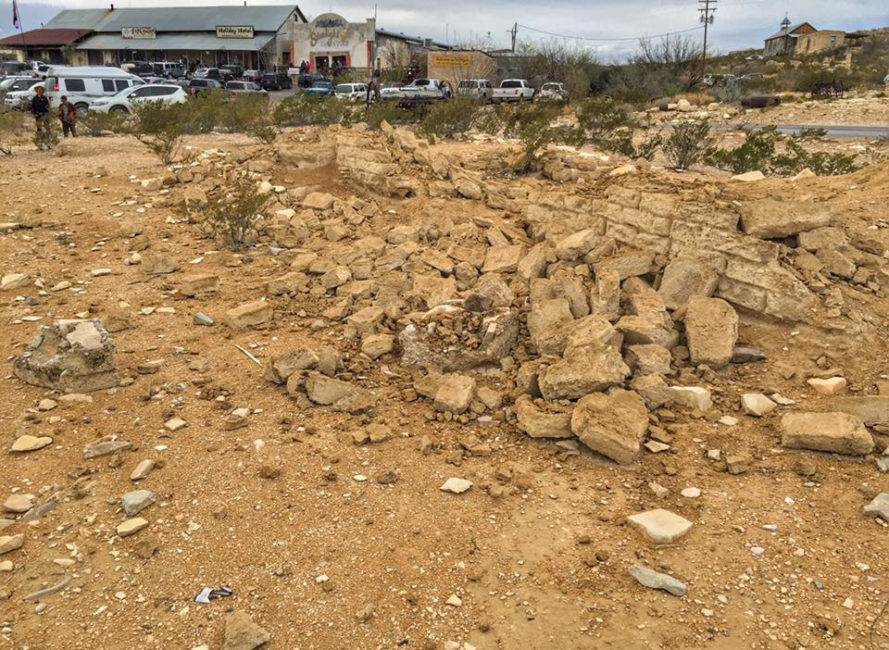 Damage left by vandals in Terlingua Ghost Town.