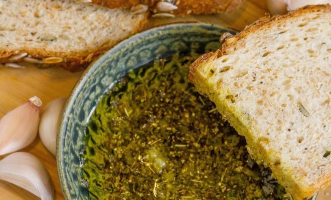 Garlicky Oil Dip: Best for Baguettes and Visits With Friends