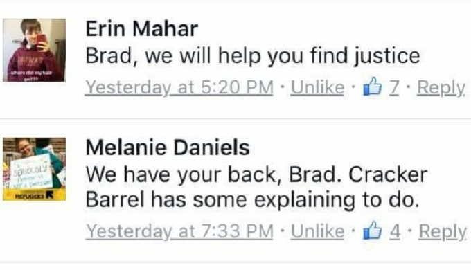 #Justiceforbradswife Has Taken Social Media (And Cracker Barrel) By Storm