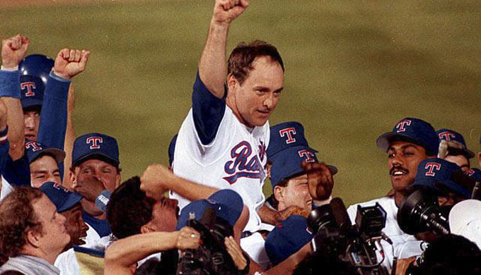 Nolan Ryan Celebrates 7th No Hitter