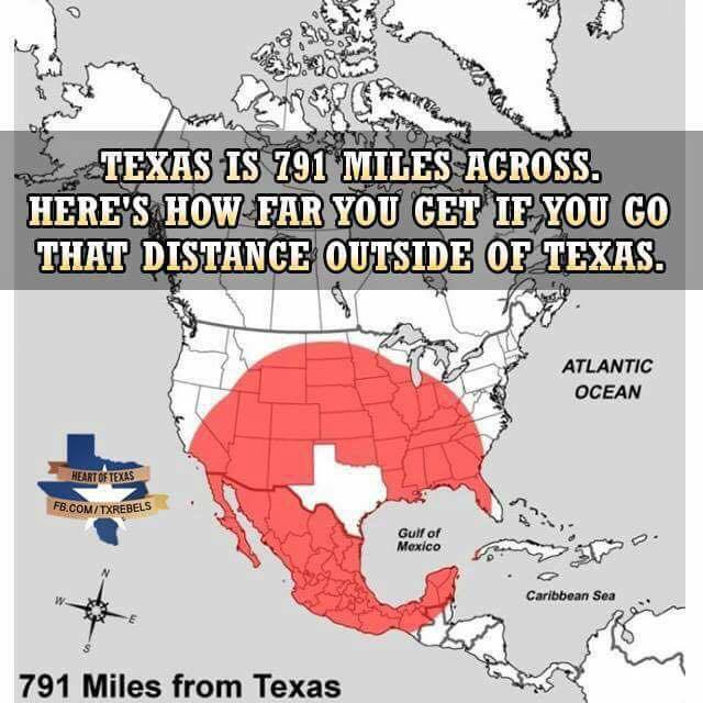 How Many Miles From >> How Far Will Travelling The Width Of Texas Take You