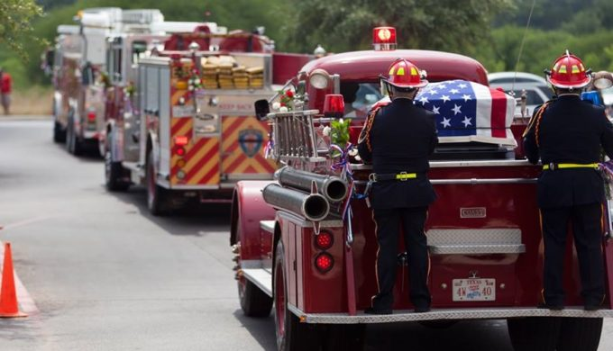Texas Hill Country Fire Fighter Honored by Houston Departments