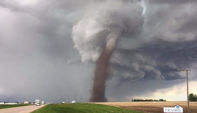 'I Was Keeping An Eye On It': Canadian Mows His Lawn in Midst of Tornado