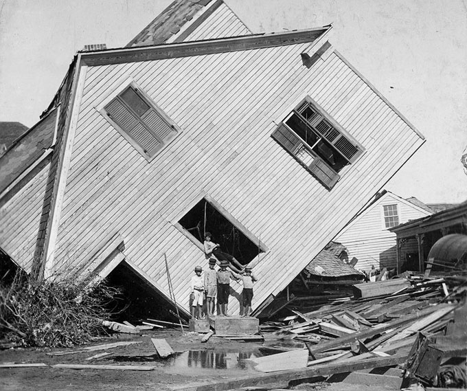 1900 Damage from Galveston Hurricane