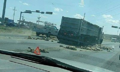Semi Spills its Guts on Slaton Highway Causing Major Delays