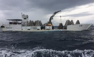 50 Concrete Pyramids Sunk Into Gulf of Mexico off South Texas Coast to Form Artificial Reef