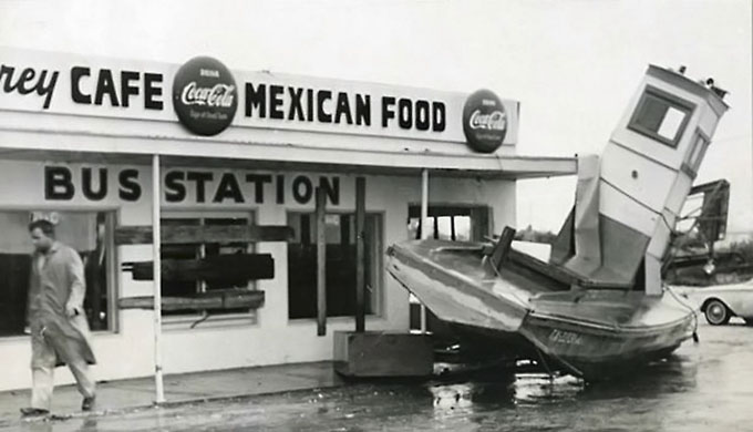 1961 damage from hurricane Carla