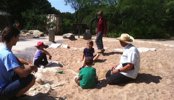 Children Discovering Fossils in Dino Pit