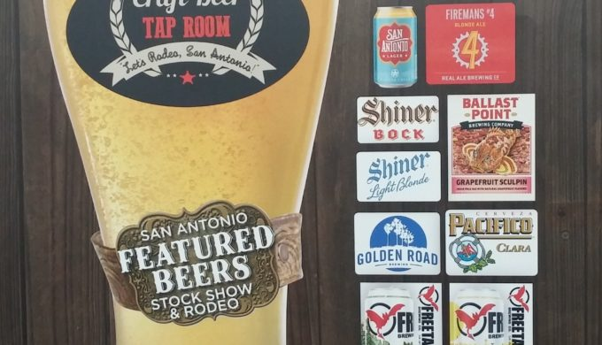Craft beers for charity at the san antonio rodeo tap room tent for Craft beer san antonio