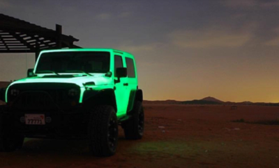 Glow-In-The-Dark Jeep Wrangler