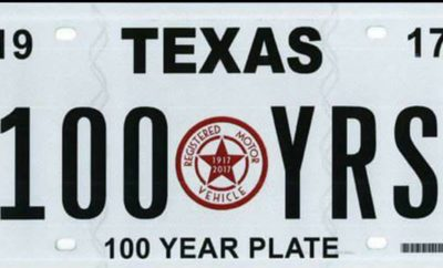 100 Years of Plating Being Recognized by Texas DMV