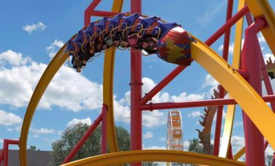 Riders Give the New Wonder Woman Golden Lasso Roller Coaster a Whirl in San Antonio
