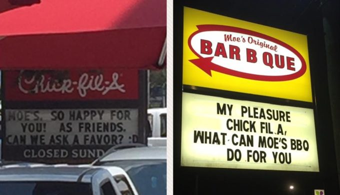 Chick-Fil-A & Moe's Mobile Signage Wars Leave Town Laughing