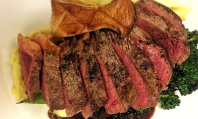 Charred Porterhouse T-Bone Steak: Tuscan-Style