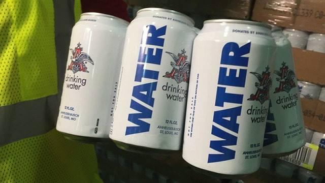 Anheuser-Busch Stops Canning Beer in Order to Can Water for Victims of Harvey