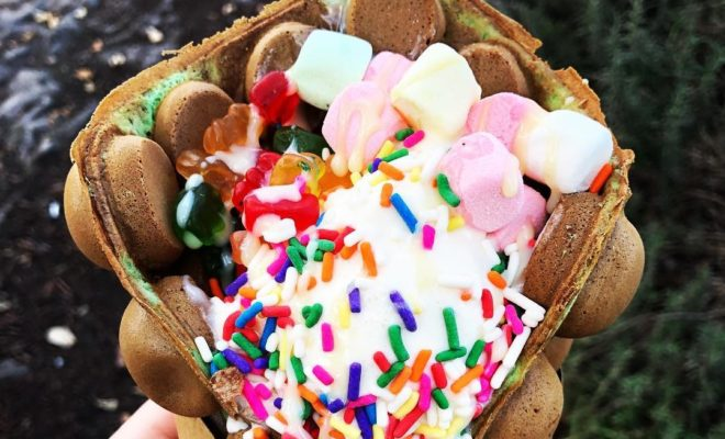 Bubble Waffle Bar Meets the Texas Hill Country and Food History Gets Made!