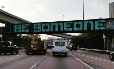 Houston's Iconic 'Be Someone' Graffiti Gets a Facelift and Fresh Coat of Paint