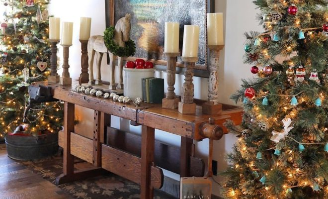 Country Christmas Tree.Online Country Christmas Decor That You Can Copy In Your Own