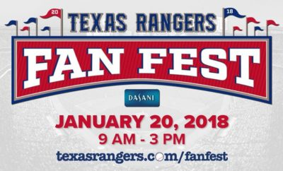 Texas Rangers Fan Fest Set for Globe Life Park