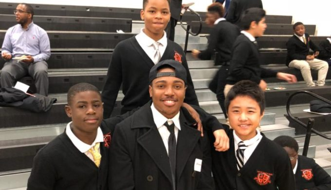 Nearly 600 Men Show Up for Dallas School's Breakfast with Dads Event