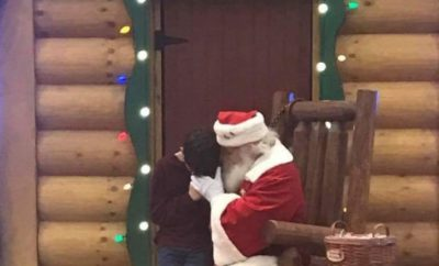 Santa prays