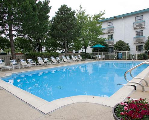 Outdoor Pool at La Quinta Inn & Suites Fredericksburg