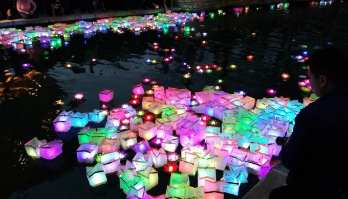 Light Up the River Walk at the Confucius Wishing Lanterns Event