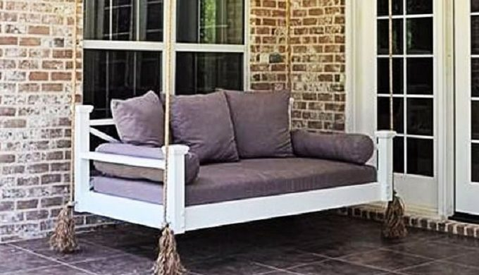 Swing Beds: Peacefulness of a Porch Swing Combined with Couch Comfort
