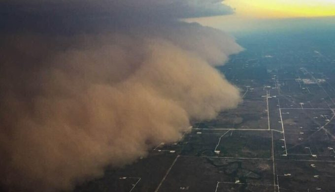 Huge Haboob Results in Parts of Midland Being Covered in Dust