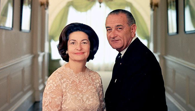 Lady Bird and President Johnson Photo by Yoichi Okamoto