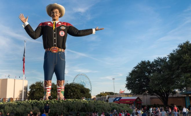 Big Tex Makes His Official Appearance for the State Fair of Texas 2018